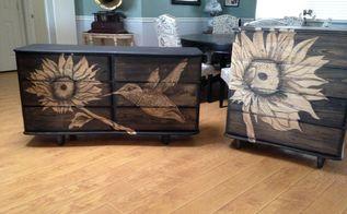 making an old dresser set new again