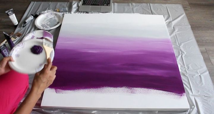 creating ombre wall art