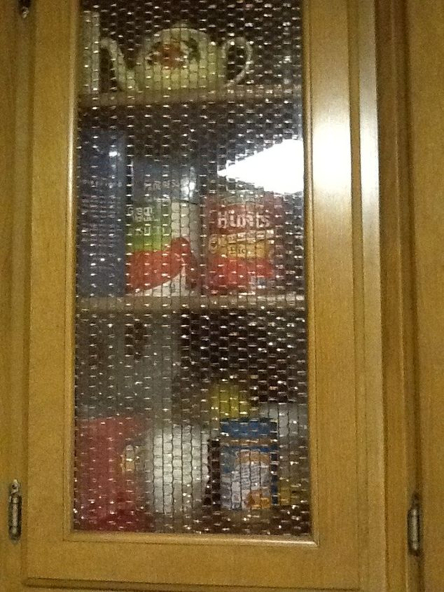 What can I use to update a glass kitchen cabinet door ...