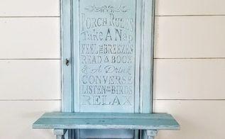 repurposed cabinet door raised stencil technique