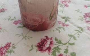 napkin decoupage on a candle