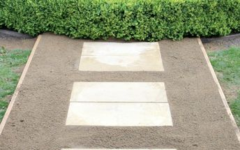 how to build a simple garden path