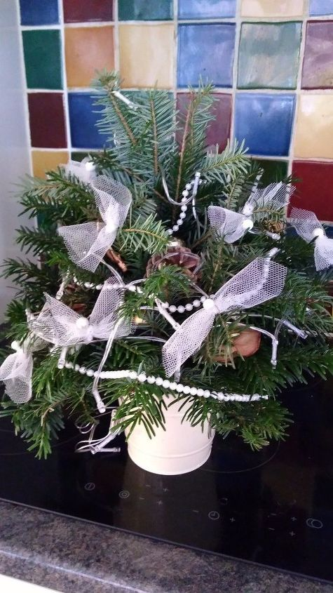 q small christmas tree from tree off cuts of