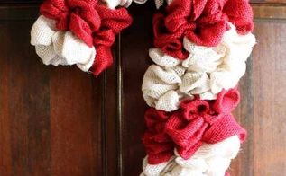 candy cane wreath make your own from burlap