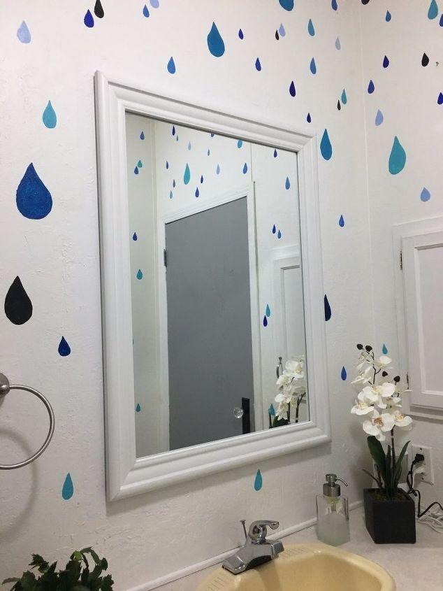 bathroom mirror makeover