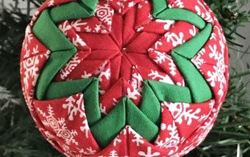 No Sew Quilted Christmas Ornament