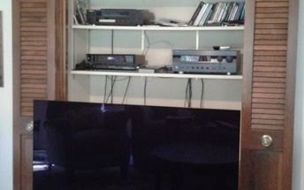 q need to enlarge update in wall entertainment center