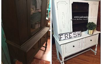 Flipping a Tired Hutch to Farmhouse Beautiful