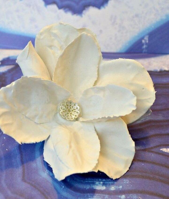 diy plaster dipped dollar store flowers