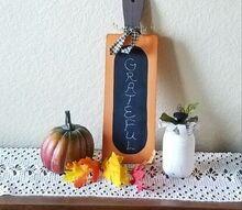 how to make a chalkboard pumpkin from a cutting board