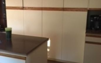 q refinish inexpensively these awful cabinets