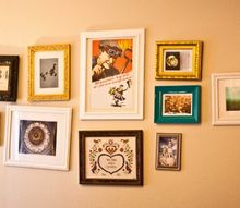 q how to hang a grouping of framed pictures