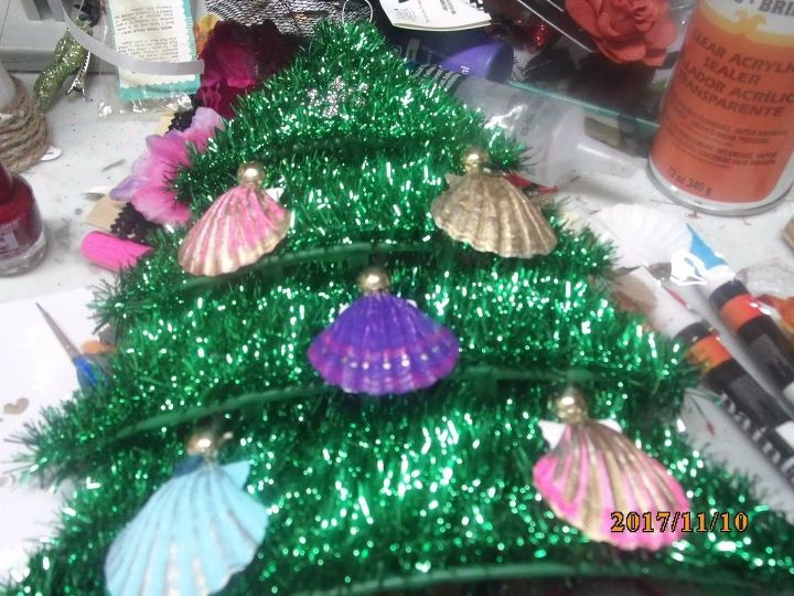 seashell santa angels dollar tree shells and tree decoration