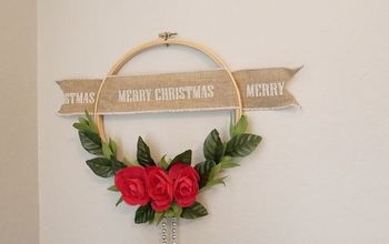 DIY Embroidery Hoop Christmas Wreath, Easy and Cheap!