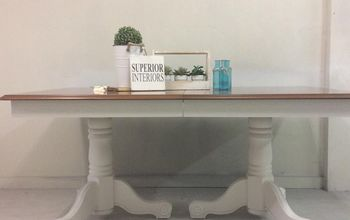 vintage dining table recieves a superior makeover