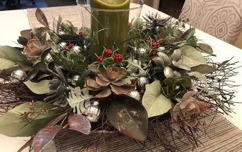 making a easy christmas centerpiece