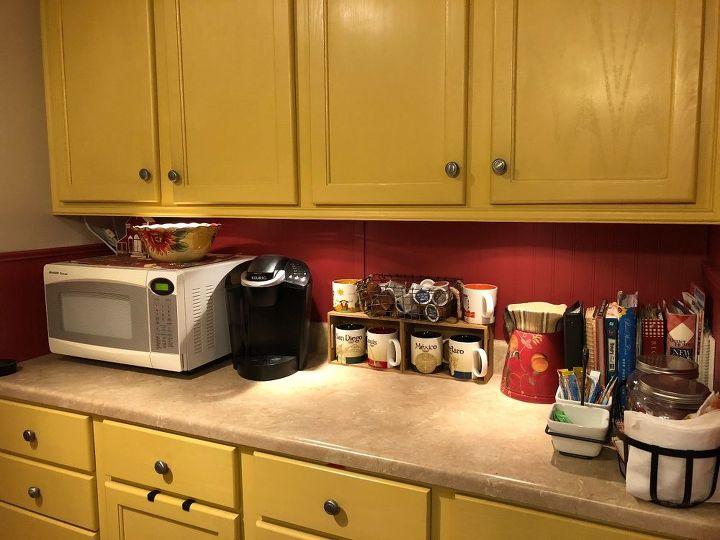 coffee station reorganized
