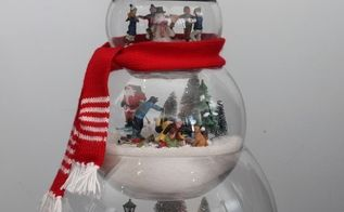 q help with glass fish bowl snowman