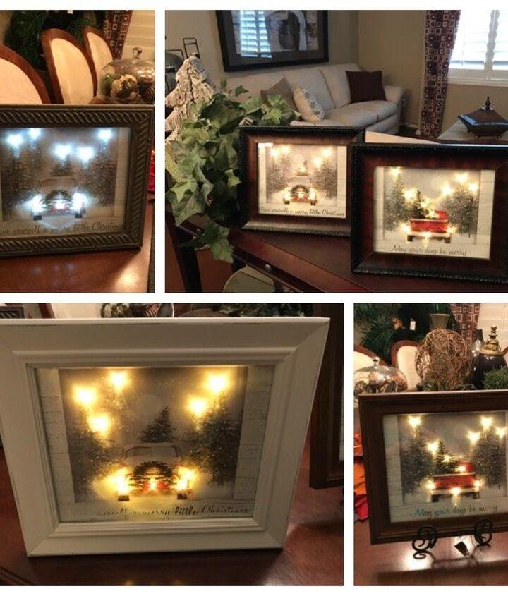 light up holiday bag art