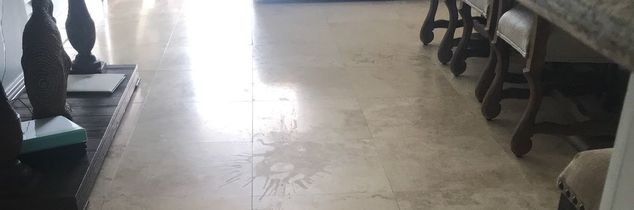 q removing a spill stain on floor