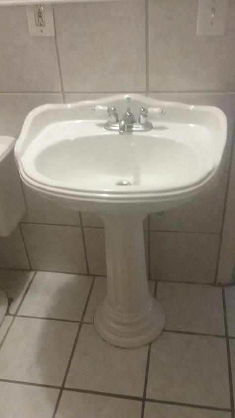 Idea To Cover Pedestal Sink Hometalk