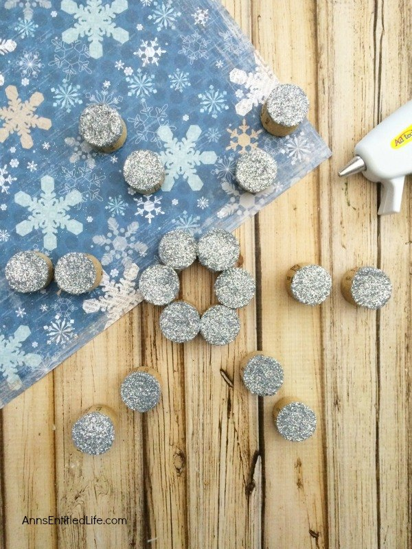 make your own cork snowflake ornament