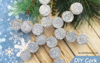 make your own cork snowflake ornament