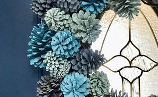 holiday ombre pinecone wreath