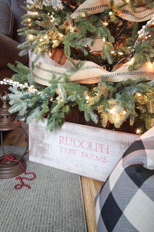 diy rustic christmas tree collar skirt