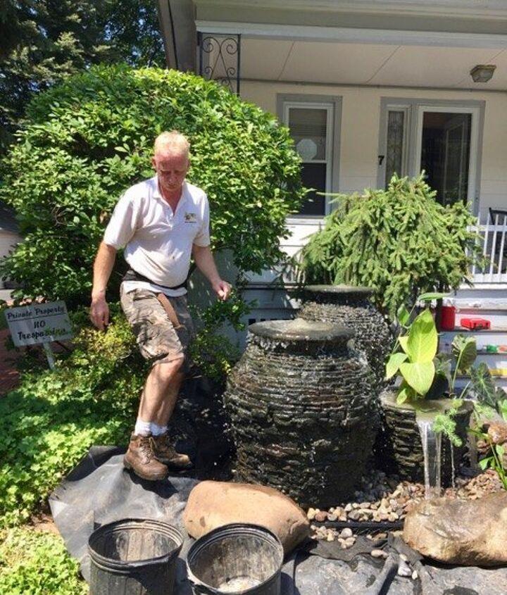 Tweaking the water feature, plants & rocks