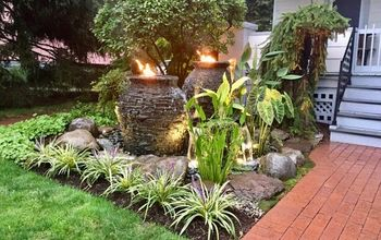 water feature fire installation ideas rochester ny acorn ponds, Bubbling urns water feature installed