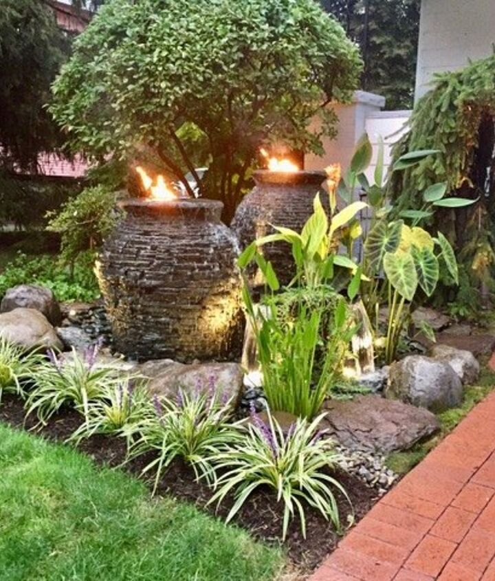 Bubbling urns water feature installed!