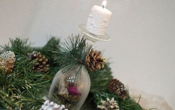 create an easy christmas wine glass candle holder that will impress