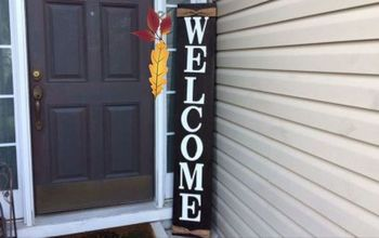 Oversized Welcome Front Door Sign|No Stencil Needed!