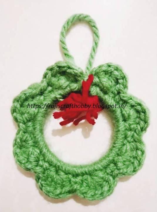 Easy Diy Crochet Wreath Ornament Hometalk
