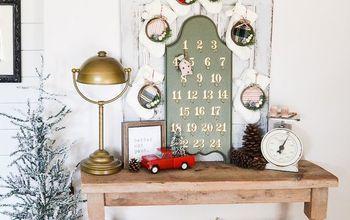 Turn a 25¢ Board Into An Advent Calendar Easily!