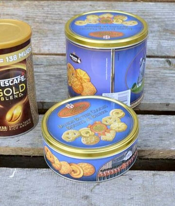 from ugly to glam upcycled cookie tins