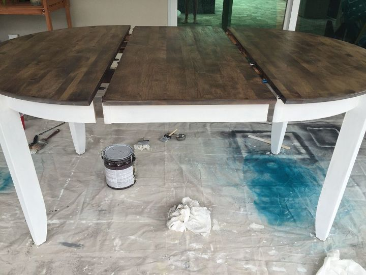 transforming an old dark brown table