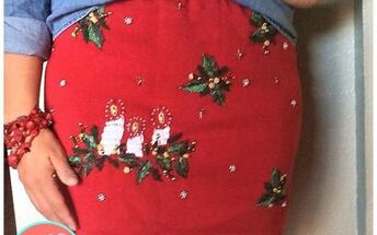 from ugly christmas sweater to ugly skirt