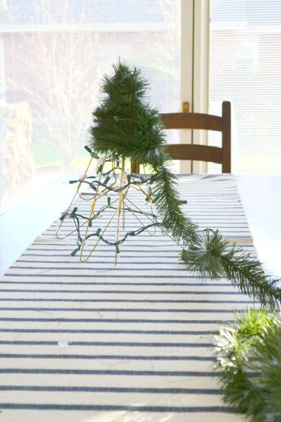 diy christmas tree from wire hangers