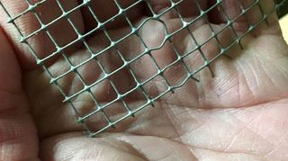 , This is Hardware Cloth It is just metal screen you use to make things like a rabbit cage It comes in different sizes I think this is 1 4 in It is in rolls and Usually bought by the foot Don t know the cost maybe 3 foot