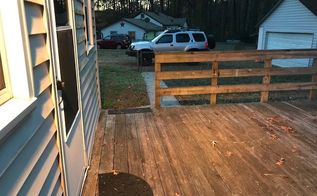 q what can i use on my short rail back deck to add lighting