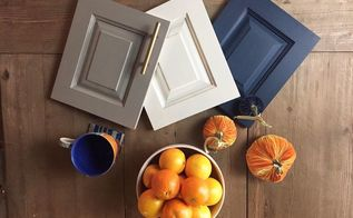 a fun and inexpensive kitchen cabinet makeover with chalk paint