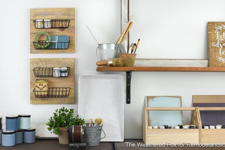 easy dollar store diy farmhouse wall baskets
