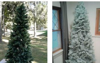 Give an Old Worn Out Christmas Tree New Life With a Little Paint!