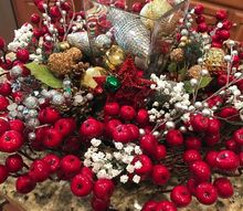 bright and cheery round christmas centerpiece
