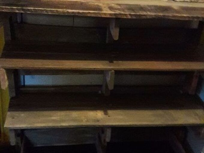 a couple of pallets and a shoe rack is born
