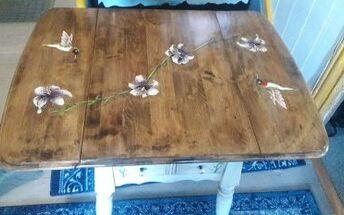 drop leaf table get s real makeover