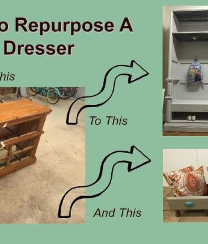 how to repurpose a dresser to a mudroom hutch