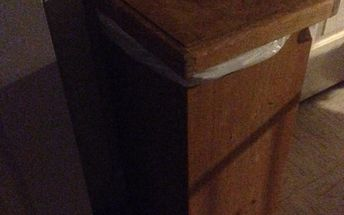 q can i paint my wooden kitchen trash bin instead of staining it